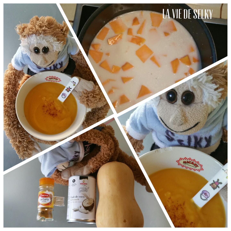 Selky cuisine une soupe de butternut au lait de coco 3