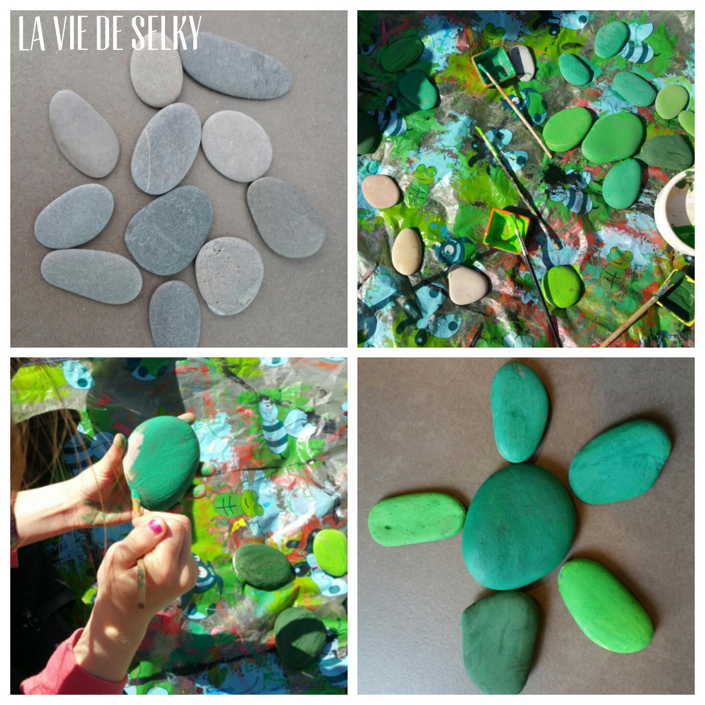 Selky peint du galet en cactus #DIY 2