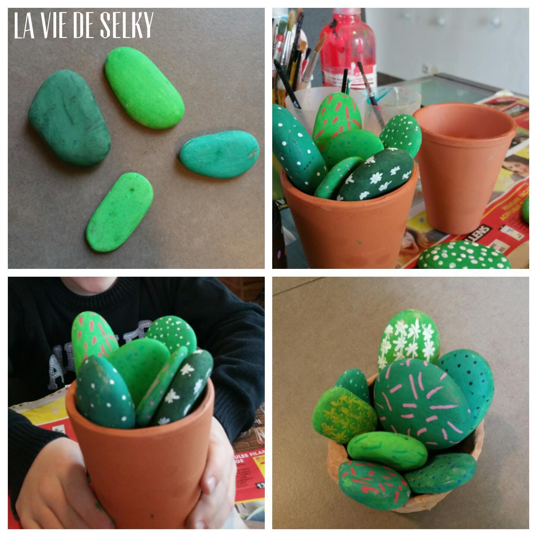 Selky peint du galet en cactus #DIY 3