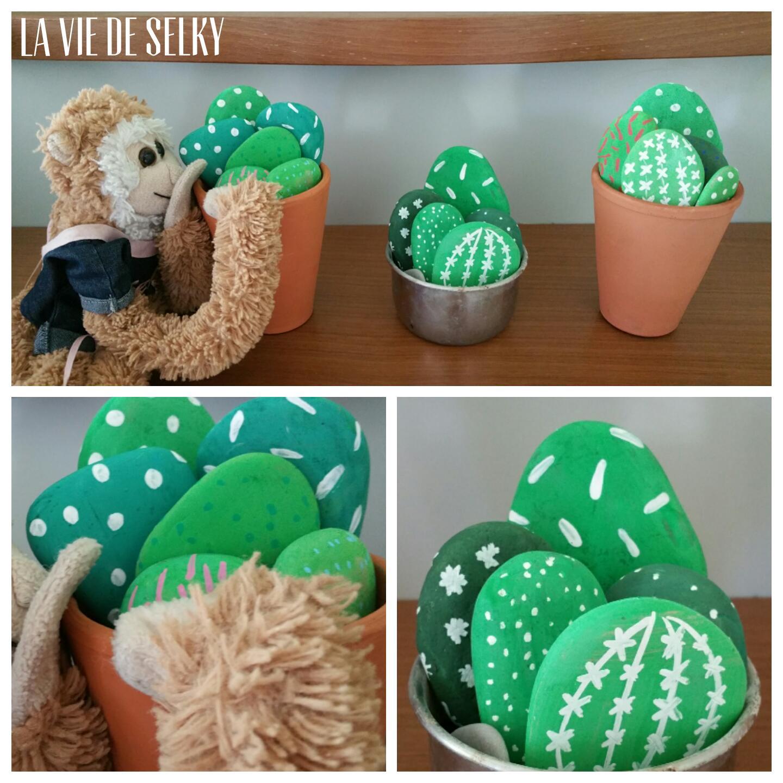 Selky peint du galet en cactus #DIY 4