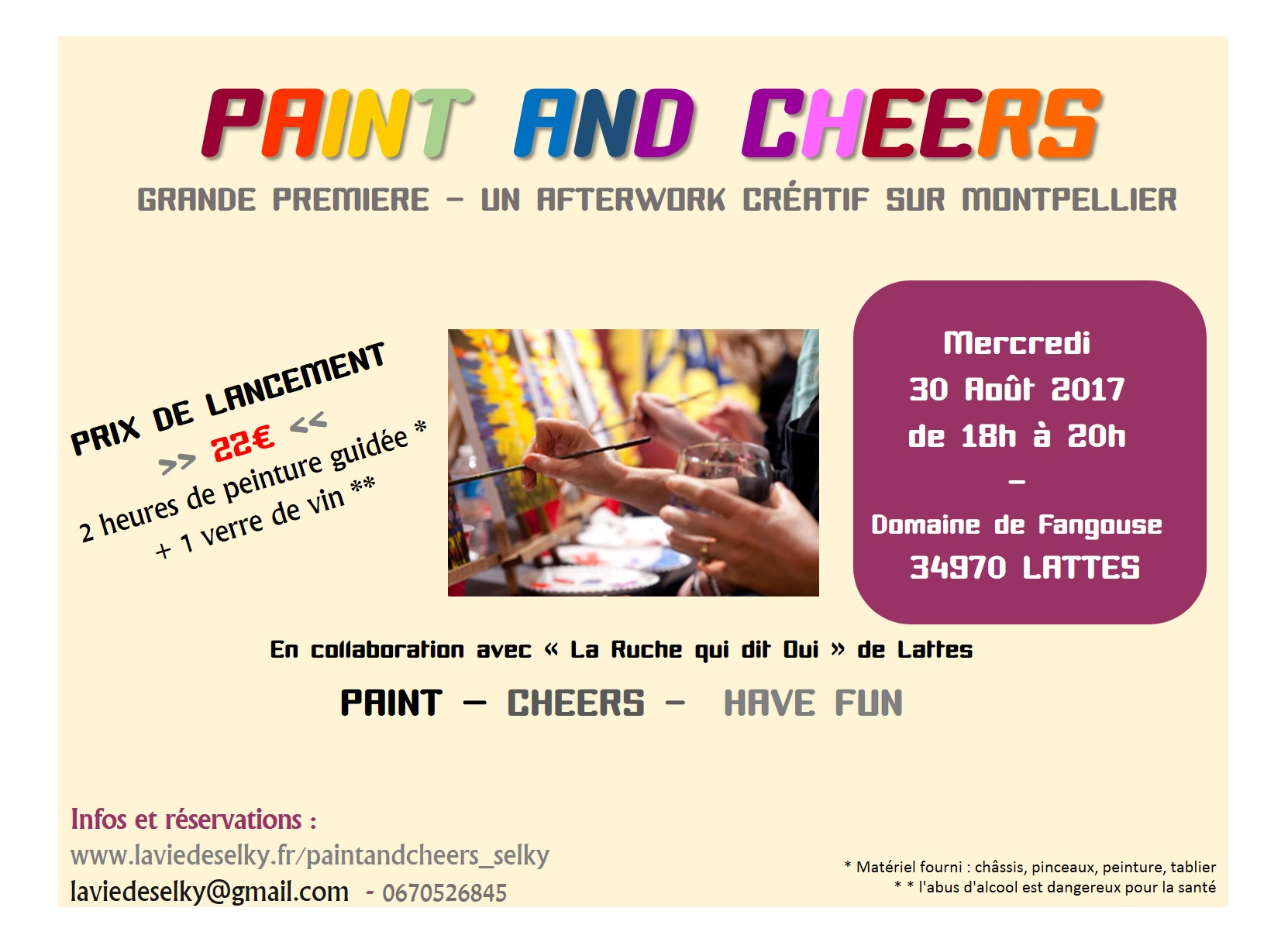 SOIREE PAINT AND CHEERS